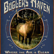 Buglers Haven Sign Poster