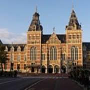 Building Exterior Of Rijksmuseum. Amsterdam. Holland Poster