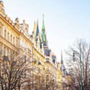 Buildings In Prague Poster