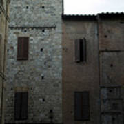 Buildings On A Side Street In Siena Poster