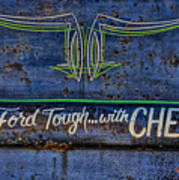 Built Ford Tough With Chevy Stuff Poster