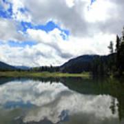 Bull Lake Cloud Reflection Poster