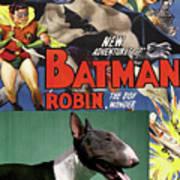 Bull Terrier Art Canvas Print - Batman Movie Poster Poster