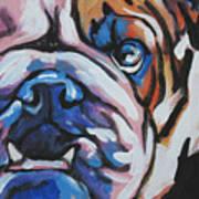 Bulldog Baby Poster