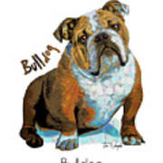 Bulldog Pop Art Poster