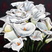 Bunch Of Lilies Poster by Ilse Kleyn