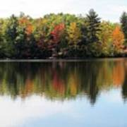 Bunganut Lake Maine Foliage 11 2016 Poster