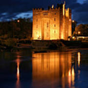 Bunraty Blues Castle Ireland At Night Poster