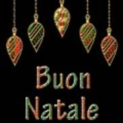 Buon Natale Italian Merry Christmas Poster