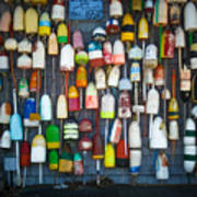 Buoys, Martha's Vineyard Poster