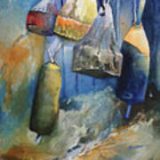 Buoys On The Fence Poster