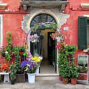 Burano Flower Shop Poster