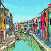 Burano Sketch Poster