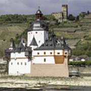 Burg Pfalzgrafenstein And Burg Gutenfals Squared Poster