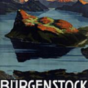 Burgenstock - Lake Lucerne - Switzerland - Retro Poster - Vintage Travel Advertising Poster Poster