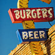 Burgers And Beer Poster