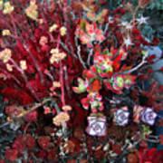 Burgundy Succulents. Multi Color Beauty Poster