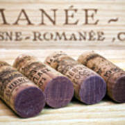 Burgundy Wine Corks Poster by Frank Tschakert