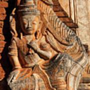 Burmese Pagoda Sculpture Poster
