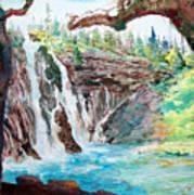 Burney Falls Poster