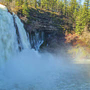 Burney Falls Wide View Poster