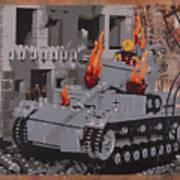 Burning Panzer Iv Poster