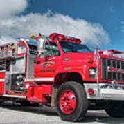 Burnington Iolta Fire Rescue - Tanker Engine 1550, North Carolina Poster