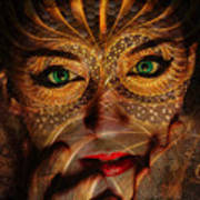 Burnished Gold Poster