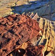 Burnt Orange Wave Of Sandstone In Valley Of Fire Poster