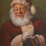 Burts Santa Poster by Vicky Gooch