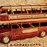 Buses Of Vintage England Poster