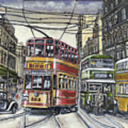 Buses Trams Trolleys Poster