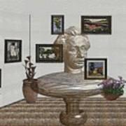 Bust Of The Spirit Of Einstein 1 Poster