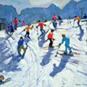 Busy Ski Slope Poster