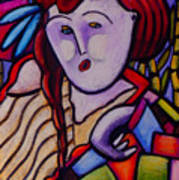 Butah Dancer Wearing Quilot Poster