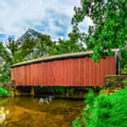Butchers Mill Covered Bridge Poster