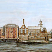 Butlers Wharf And Courage's Brewery Poster