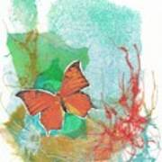 Butterflies in Blue Skies Poster