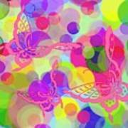 Butterfly Bubbles Poster