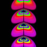 Butterfly Heart Poster