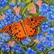 Butterfly Orange Poster