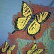 Butterfly Picnic Poster