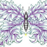 Butterfly Tattoo 2 Poster by Karen Musick