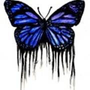 Butterfly Tears Poster by Mike Grubb