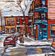 Buy Original Wilensky Montreal Paintings For Sale Achetez Petits Formats Scenes De Rue Street Scenes Poster