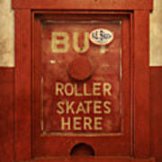 Buy Skates Here Poster by Brenda Conrad