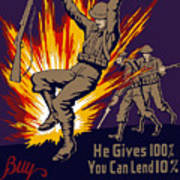 Buy War Stamps And Bonds Poster by War Is Hell Store