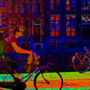 By Bicycle Amsterdam Poster