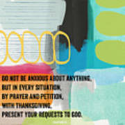 By Prayer And Petition- Contemporary Christian Art By Linda Wood Poster