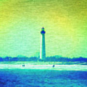 By The Sea - Cape May Lighthouse Poster